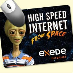 Mousepad promotional item with alien on it