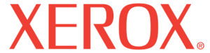 Xerox printers and toner logo red text